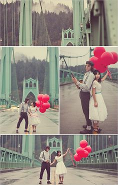 balloons are such a great prop for photo shoots ...