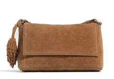 Nouveautés Zara: le sac à pomponSac camel à bandoulière, Zara, 29,95 €.