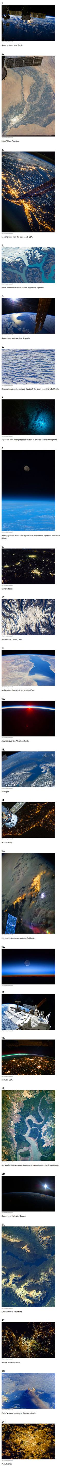 Here are some mind-blowing views of Earth captured by astronauts aboard the International Space Station.