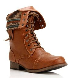 Pre-Order: Whisky Lace Up Back Zipper Combat Boots on Wanelo