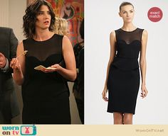 Robin's black sheer dress with peplum waist on How i Met Your Mother.  Outfit details: http://wornontv.net/12108/