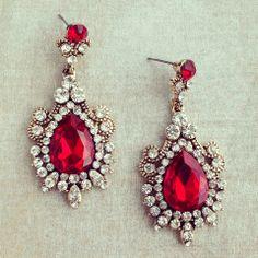 Pree Brulee - Mughal Empress Ruby Earrings on Wanelo