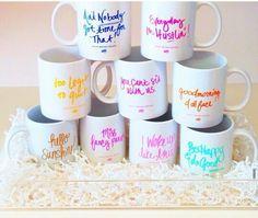 Ashley Brooke Designs mugs! I want the whole set!