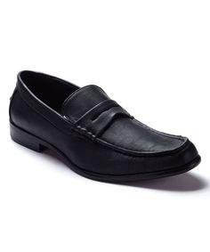 Black Leather Loafer