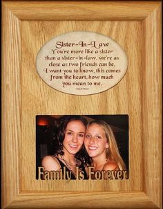 Ideas Gifts For Sister In Law Birthday Pictures Little Sister Gifts, Sister In Law Gifts, 19th Birthday Gifts, Best Birthday Gifts, 60th Birthday, Sister Christmas Presents, Oak Picture Frames, Sister In Law Birthday, Teenage Girl Gifts