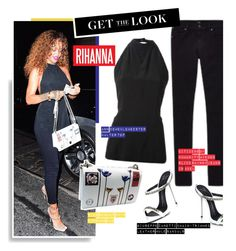 """Get the Look: Rihanna"" by hamaly ❤ liked on Polyvore"