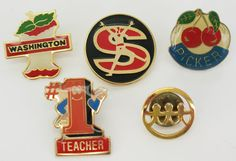 Souvenir PINS Collectible Lapel Pin Buttons by FindingMaineVintage, $5.00