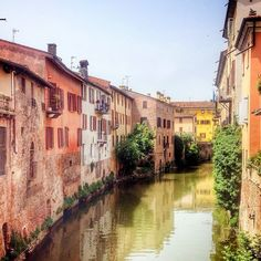 One of the pretty canals in #Mantua - Instagram by 1step2theleft