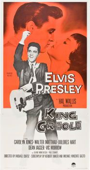Movie Posters:Elvis Presley, King Creole (Paramount, Three Sheet X . Old Movie Posters, Classic Movie Posters, Classic Movies, Old Movies, Vintage Movies, Great Movies, Elvis Presley Movies, Elvis Presley Photos, Dolores Hart