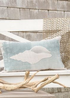 Beachcomber Whelk Pillow Cover | Heritage Lace