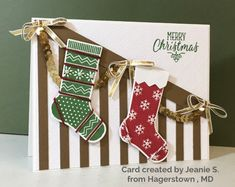 Stampin Up Christmas Card Swap   Simplestampin   Hang Your Stocking