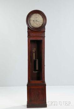 William Bond & Sons Mahogany Astronomical Floor Regulator No. 152, Boston, Massachusetts, c. 1860. | Lot 134 | Auction 3003M | Estimate $6,000-8,000