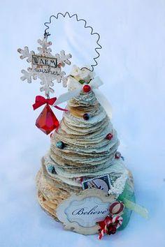 Paper Christmas tree  (use scraps)