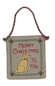 Dog Cross Stitch Patterns 'Merry Christmas to You'