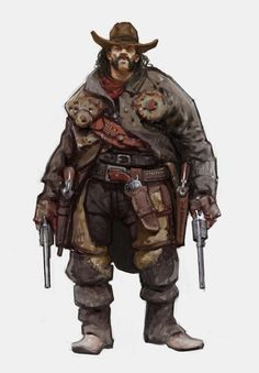 ArtStation - Vlad Gheneli's submission on Wild West - Character Design Character Concept, Character Art, Concept Art, Steampunk Characters, Fantasy Characters, Character Design Animation, Character Design References, Savage Worlds, Cyberpunk