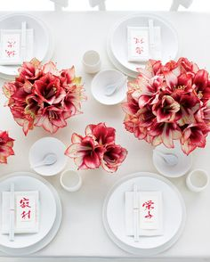 Flowering bulbs—amaryllis, narcissus, and hyacinth among them—often cost less than regular flowers and are dramatic, even when arranged simply.