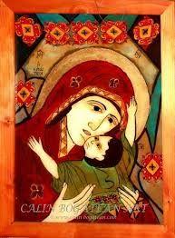 Imagini pentru icoane pe sticla vechi Orthodox Icons, Past Life, Santa Maria, Virgin Mary, Byzantine, Folk Art, Catholic, Prayers, My Arts
