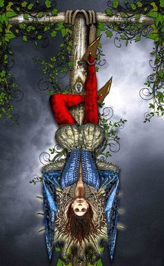 The Hanged Man by *Elric2012 Find out what The Hanged Man means for you: www.tarotbyemail.com