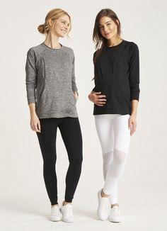 The Pocket Sweatshirt Nursing Wear, Nursing Tops, Pregnant And Breastfeeding, Get Dressed, Maternity, Stylish, Sweatshirts, Sweaters, How To Wear