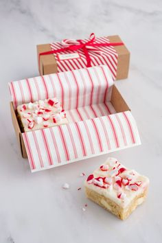 White Chocolate-and-Peppermint Blondies