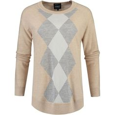 McGregor Pullover Courtney Argyle ($145) ❤ liked on Polyvore featuring beige and women