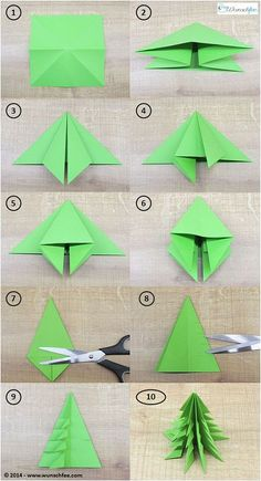 LEARN TO DRAW - DIY paper ideas with tutorials for decorations made only from paper. - DIY paper make DIY origami Christmas decorations together! Kids Crafts, Diy And Crafts, Rock Crafts, Homemade Crafts, Origami Christmas Tree, Xmas Trees, Oragami Christmas Ornaments, Origami Ornaments, 3d Snowflakes