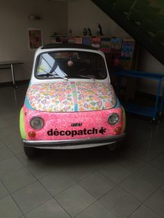 #Decopatch #decoupage car vehicle fiat #DIY Decorate Craft paper