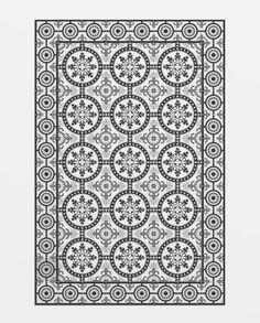 vinil_rug_lesseps Classic Rugs, Bathroom, Home Decor, Ideas, Encaustic Tile, Rugs, Mosaics, Washroom, Bath Room