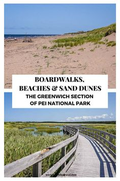 Boardwalks, beaches & sand dunes - the beautiful Greenwich section of PEI National Park - much quieter, kilometres of empty beautiful beaches Discover Canada, Clean Beach, Canadian Travel, Beach Boardwalk, Visit Canada, Prince Edward Island, The Dunes, Beautiful Beaches, Empty