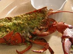 Baked Lobster with Garlic Butter Panko recipe from Tyler Florence via Food Network