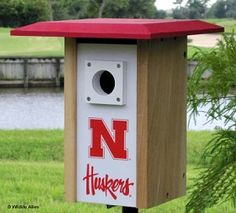 Nebraska NCAA Bluebird/Songbird House