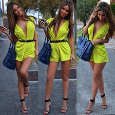 Adorable yellow romper great for the spring season !