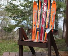 """It's campfire season and everyone can use a comfy chair for marshmallow roasting! I happened to have a couple pairs of broken, worn out skis collecting dust in my garage (that's right, skis wear out, they can crack and more commonly bindings get old and unsafe). I thought I would save them from the landfill and try my hand at turning them into an """"epic lawn chair, man""""!This Instructable describes how to create your own lawn chair from recycled skis. I've included..."""