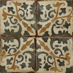 The colors and patterns of these handmade terracotta tiles come from the Spanish Colonial influences of Mexico City's upscale Polanco neighborhood.