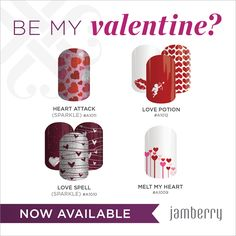 By Jamberry Nails!! Get them at emilymason.jamberrynails.net I want to be YOUR consultant! - Spring Line!! Be my Valentine!!