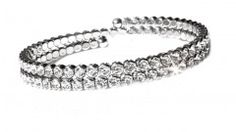 Bracciale Sposa in Rodio e Strass Swarovski - Bridal Rhodium Bracelet with Swarovski Crystal