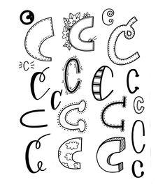 Verschiedene Möglickeiten, den Buchstaben C zu lettern