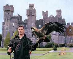 Ashford Castle, County Mayo, Ireland- I want to learn falconry, oh so very much! Castle Hotels In Ireland, Castles In Ireland, Ashford Castle Ireland, Ireland Vacation, Ireland Travel, Halloween In Ireland, Emerald Isle, Great Britain, Dream Vacations