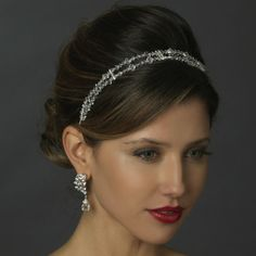 Swarovski Crystal Bead & Rhinestone Double Headband.  Kim's Bridal, Keywords:  #michiganeventrentals #michiganbridalshop #weddingrentals #weddingaccessories #kimsbridal Follow Us: http://www.kimsgiftbaskets.com/ ... https://www.facebook.com/KimsGifts