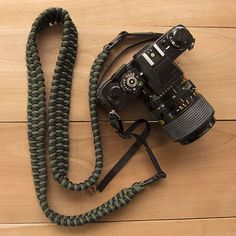 Rugged and uniquely styled handmade paracord camera straps