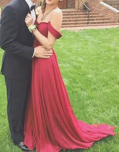 Pretty Off-Shoulder Burgundy Sweetheart Prom Gown 2015, Burgundy Prom Gown 2015, Evening Dresses, Homecoming Dresses(Color 44)