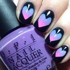 Cute heart manicure