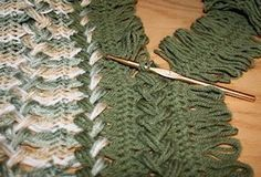 hairpin blanket example on beginner hairpin lace tutorial