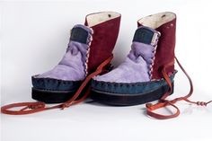 Looking foward to getting vegan version made :) Shoe Boots, Shoes, Hippy, Color Combos, Suede Leather, Purple, Blue, Footwear, Pure Products