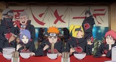 Even the Akatsuki are interested in Ramen. I find it funny Itachi and Kisame are in the background.