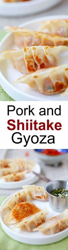 Pork and Shiitake Gyoza – healthy and delicious Japanese dumplings that you can make at home with this super easy and fool proof recipe | http://rasamalaysia.com