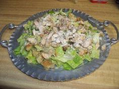 CHICKEN CAESAR (or you can use large shrimps) Worcestershire sauce can be used instead of Brandy. GET RECIPE HERE: http://doreenskitchen.com/ChickenCaesarSalad.html   CHECK OUT: CD Cookbook over 350 pages with BONUS Magic Pan Crepe Recipes   http://doreenskitchen.com/  WATCH VIDEO HERE: http://youtu.be/XOpO7vJkB1g