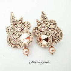 Soutache Pendant, Soutache Necklace, Tassel Earrings, Shibori, Jewelry Tools, Boho Jewelry, Jewelery, Soutache Pattern, Earring Tutorial