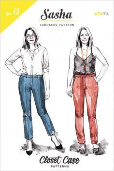 Closet Case Files Ladies Sewing Pattern Sasha Trousers | Sewing | Patterns | Minerva Crafts