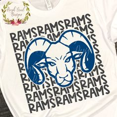 Excited to share this item from my shop: Rams High School Mascot SVG School Spirit Wear, School Spirit Shirts, School Shirts, School Tshirt Designs, School Design, Cheer Shirts, Team Shirts, High School Mascots, Vinyl Designs